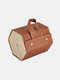 2/3/4/5/6 Grids Father's Day Gift Multifunctional Foldable Sunglasses Storage Case PU Leather Durable Door Hanging Glasses Case - #02