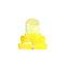4 / 10PCS T4ウェッジLED電球計器ダッシュボードダッシュ気候ベースランプライト  - 黄