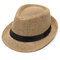 Men Women Summer Paper Knited Sunscreen Jazz Cap Outdoor Casual Travel Breathable Hat