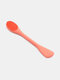 Double-headed Portable Silicone Mask Brush Clean Makeup Remover Cleansing Brush Beauty Tool - Orange