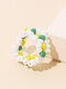 1 PC / 6 Pcs Set Brief Ins Colorful Braided Millet Bead Rings - White