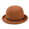 Cappello da pescatore a forma di fiocco semplice da donna Cappellino in ciniglia elegante e selvaggio Cappello regolabile confortevole - Cammello