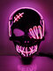 1 PC One-Eyed Pirate Mask Halloween LED Light Up Mask For Festival Halloween Cosplay Costume For Men Women Kids - Pink