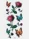 40 piezas 3D estéreo Impermeable tatuajes pegatinas escorpión flor transferencia de agua tatuaje pegatinas - 10