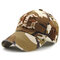 Men Women Vintage Cotton Camouflage Embroidery Baseball Cap Adjustable Golf Snapback Hat - Coffee