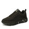 Breathable Mesh Lace Up  Wide Fit Camouflage Running Sneakers for Women - Black