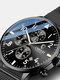 Business Full Steel Men Quartz Wristwatch Waterproof Date Clock Men Watch - Black Dial Black Mesh Band