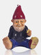 1PC Resin Gnome Dwarf Hand Painted Statues Holding Cigarette Lawn Decorations Indoor Outdoor Christmas Garden Ornament - #01