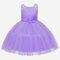 Niña Flor Tul Retazos Sin mangas Princesa Cumpleaños Formal Vestido Para 3-11Y - púrpura