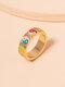 Vintage Yin Yang Bagua Circle-shape Alloy Rings - Colorful