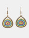 Vintage Colorful Drop-shaped Earrings Temperament Alloy Geometric Earrings - #02