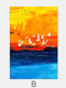 1/3Pcs Colorful Painting Landscape Graffiti Pattern Canvas Painting Unframed Wall Art Canvas Living Room Home Decor - B