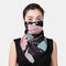 Floral Breathable Printing Masks Neck Protection Sunscreen Ear-mounted Scarf  - 02
