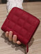 Women PU Leather Quilted Bag Money Clips Multi-card Slots Coin Purse Wallet - Red