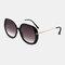 Женское Повседневная мода Классические солнцезащитные очки в металлической оправе круглой формы UV Защитные солнцезащитные очки - Черный