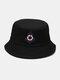 महिला और पुरुष लंगर सर्वाइवल सर्कल पैटर्न आउटडोर सनशेड बाल्टी टोपी - काली