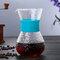 高温耐性ガラスコーヒーメーカーポットエスプレッソコーヒーマシン - ブルー1