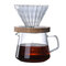 500 مل الزجاج ارتفاع درجة الحرارة ناحية تقاسم القهوة غلاية المطبخ بار الرئيسية