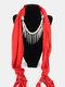 20 Colors Bohemian Women Scarf Necklace Shawl Autumn Winter Tassel Pendant Necklace - #07