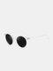 Unisex Transparent Full Frame Polarized UV Protection Coated Sunglasses - Transparent frame/Black Gray