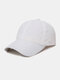 Unisex Quick-dry Solid Color Travel Sunshade Breathable Baseball Hat - White