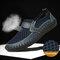 Sapatos Casual Homens Outdoor Confortável Respirável Designe Favo de Mel - Azul escuro