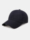 Unisex Quick-dry Solid Color Travel Sunshade Breathable Baseball Hat - Black