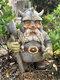 Pirate Victor Norwegian Gnome Dwarf Statue Resin Miniature Figurines Sculptures Outdoor Garden Decor Ornament - #01