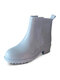 Women Waterproof Candy-colored Non Slip Warm Slip-on Shoes Brief Comfy Rain Boots - Sky Blue
