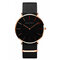 Business Quartz Watches No Number Leather Adjustable Strap Fashion Watches for Men - #6