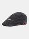 पुरुषों सूती ठोस रंग आकस्मिक फैशन Sunvisor फ्लैट टोपी आगे टोपी टोपी टोपी - काली