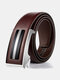 120CM Men Genuine Leather Alloy Automatic Buckle Business Casual All-match Belts - #04