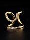 Elegant Opening Diamond Nail Ring Tail Ring - #05