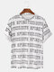 Mens 3D Letter Printed Loose Tee Short Sleeve T-Shirt - White