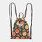 Women Waterproof Large Capacity Print Casual Backpack Drawstring pocket - #01