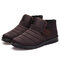 Homens Ankle Boots Elastic Hook Loop Ankle Casual À Prova D 'Água