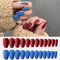 24Pcs/Box Full Cover Frosted Ballet Nail Tips Almond Press On Nails Wearable Fake Nail with Glue - 10