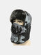 Men Cold-proof Winter Camouflage Pattern Trapper Hat Thick Winter Hat Ear Protection With Mask Trapper Hat - Gray