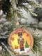 1Pc Christmas Ornament Lighted Wooden Walnut Soldier Pendant Small Tree Pendant Pendant - #01