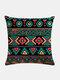 Bohemian Geometric Pattern Linen Cushion Cover Home Sofa Art Decor Throw Pillowcase - #01