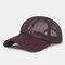 Gorra de béisbol de malla hueca transpirable para hombre al aire libre Sun Sombrero
