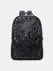 Men Lion Head Print Travel 14 Inch Laptop Bag Backpack - Black