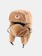 男性と女性の防寒冬用トラッパーハットマスクトラッパーハット付きの厚い冬用ハット耳栓 - #10