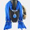 Bohemian Dacron Multi-layer Necklace Handmade Teardrop Pendant Tassel Women Scarf Shawl Necklace - 03