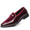 Empalme de cuero de gran tamaño para hombres Slip On Formal Vestido Zapatos