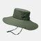 Hat Male Sun Hat Outdoor 12CM Oversized Brim Fisherman Hat Men Summer Mountaineering Sun Hat - Army Green