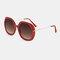 Женское Повседневная мода Классические солнцезащитные очки в металлической оправе круглой формы UV Защитные солнцезащитные очки - Красный