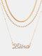 Collar Vintage Doce Constelaciones Mujer Collar de diamantes con incrustaciones de múltiples capas Colgante - Libra