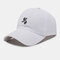 Unisex Cotton Embroidery Astronaut Pattern Sunscreen Casual Couple Hat Baseball Hat - White