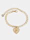 Luxury 26 English Letters Women Anklet Wild Heart Pendant Anklet Jewelry Gift - P